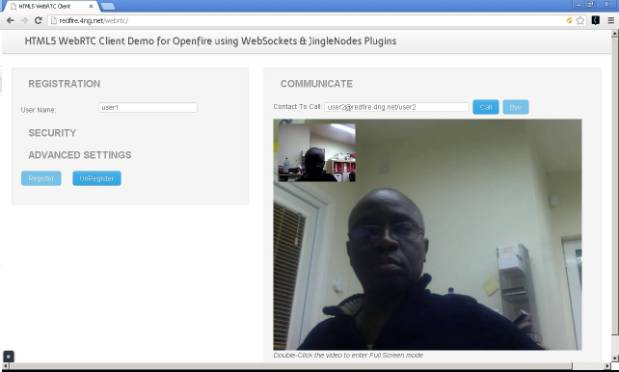 WebRTC Demo for Openfire using WebSockets & JingleNodes - Ignite