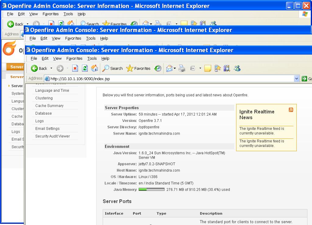 Sudden Decrease in Java Heap Memory (openfire 3 7 1) - Openfire